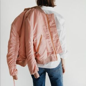 Acne Studios Clea Bomber Jacket in Pink